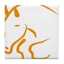 jumping horse Tile Coaster