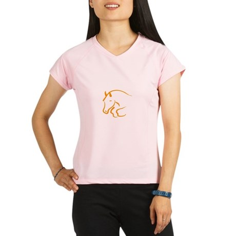 jumping horse Performance Dry T-Shirt