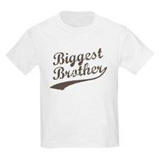 Biggest Brother (Brown Text) T-Shirt