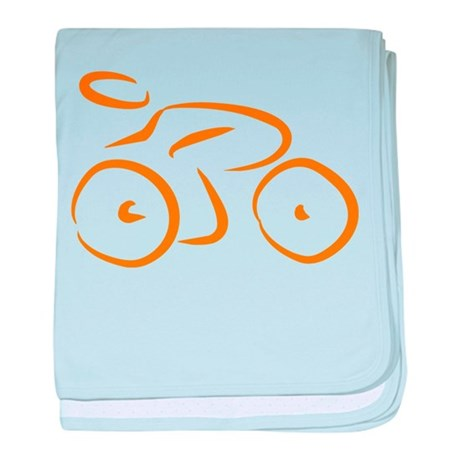 bike logo baby blanket