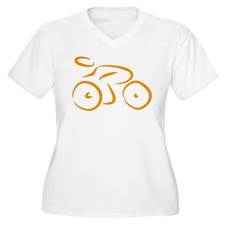 bike logo Women's Plus Size V-Neck T-Shirt