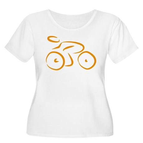 bike logo Women's Plus Size Scoop Neck T-Shirt