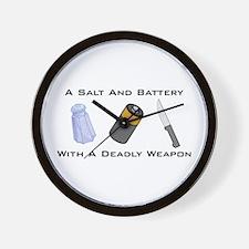 A Salt And Battery With A Dea Wall Clock