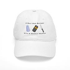 A Salt And Battery With A Dea Baseball Cap