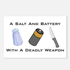 A Salt And Battery With A Dea Postcards (Package o