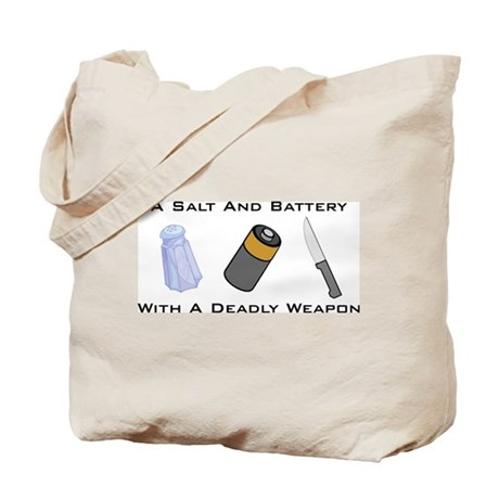 A Salt And Battery With A Dea Tote Bag
