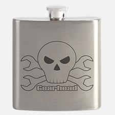 Gearhead Skull Flask
