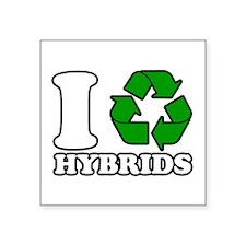 "I Heart Hybrids Square Sticker 3"" x 3"""