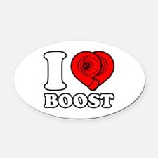 I Heart Boost Oval Car Magnet