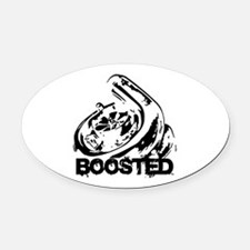 Boosted Oval Car Magnet