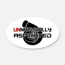 Unnaturally Aspirated Oval Car Magnet