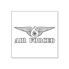 "Air Forced Square Sticker 3"" x 3"""