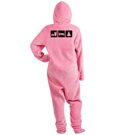 Eat Sleep AutoX Footed Pajamas