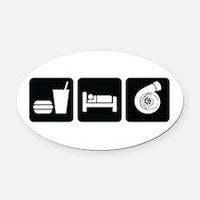 Eat Sleep Boost Oval Car Magnet
