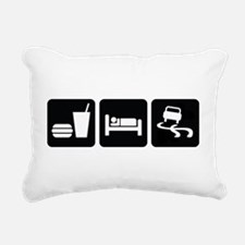 Eat Sleep Drift Rectangular Canvas Pillow