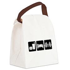 Eat Sleep Race Canvas Lunch Bag