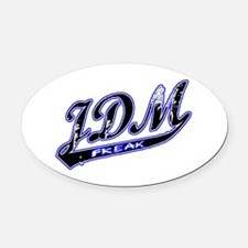 JDM Freak Oval Car Magnet