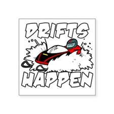 "Drifts Happen Square Sticker 3"" x 3"""