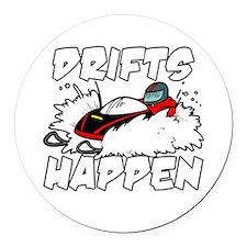 Drifts Happen Round Car Magnet