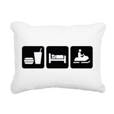 Eat Sleep Snowmobile Rectangular Canvas Pillow