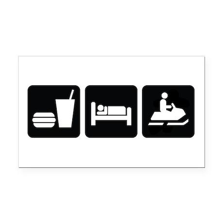 Eat Sleep Snowmobile Rectangle Car Magnet