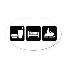 Eat Sleep Snowmobile Oval Car Magnet