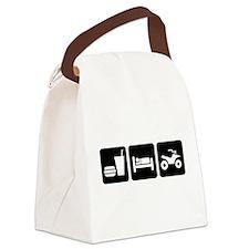 Eat Sleep ATV Canvas Lunch Bag