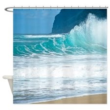 Surf Beach Polihale Hawaii Tropical Shower Curtain