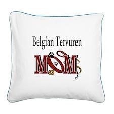 Belgian Tervuren Mom Square Canvas Pillow