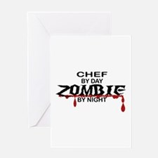 Chef Zombie Greeting Card