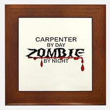 Carpenter Zombie Framed Tile