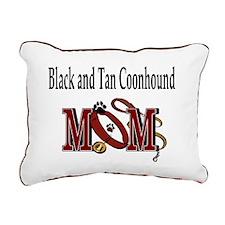 Black Tan Coonhound Rectangular Canvas Pillow