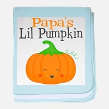Papas Little Pumpkin baby blanket