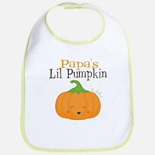 Papas Little Pumpkin Bib