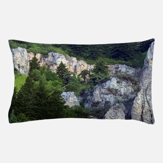 Pines in cliffs Pillow Case