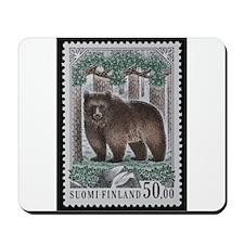 Vintage Postage Stamp - The Bear Mousepad