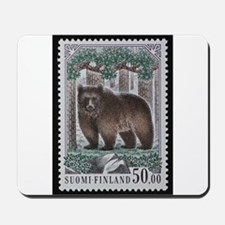 Vintage Postage Stamp - The Bear Mousepad