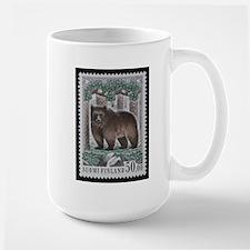 Vintage Postage Stamp - The Bear Mug