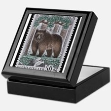 Vintage Postage Stamp - The Bear Keepsake Box