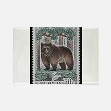 Vintage Postage Stamp - The Bear Rectangle Magnet