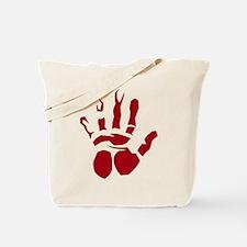 Bloody Hand Print Shirt Tote Bag