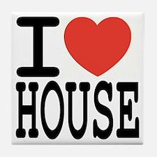 I love House Music Tile Coaster