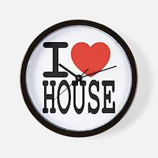 I love House Music Wall Clock