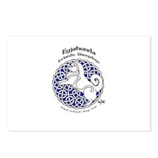 Eyjahunda Logo White Background Postcards (Package