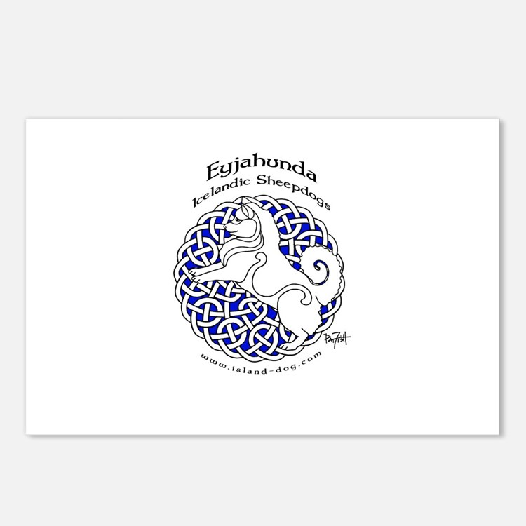Eyjahunda Logo White Background Postcards (Package