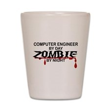 Computer Engineer Zombie Shot Glass