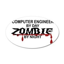 Computer Engineer Zombie Wall Decal