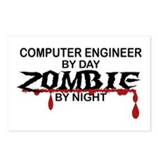 Computer Engineer Zombie Postcards (Package of 8)