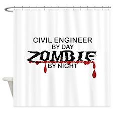 Civil Engineer Zombie Shower Curtain