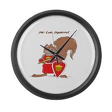 Sir Lan Squirrel Large Wall Clock